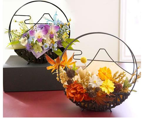和風プリザーブドフラワー日本の四季 富士(春・夏・秋・冬)