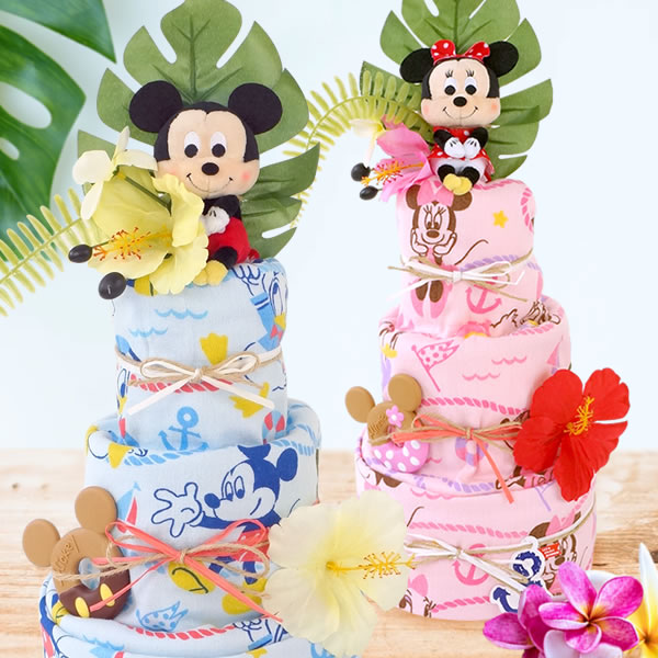 ディズニーサマーバスタオルおむつケーキ