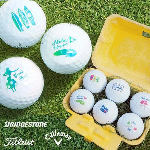 シーズナル名入れゴルフボール(6個)& Teeギフトセット